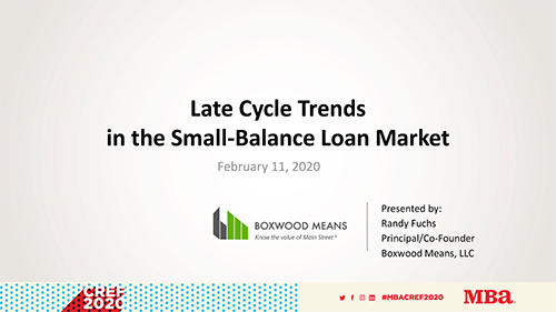 Late Cycle Trends in the Small-Balance Loan Market