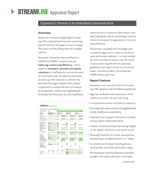 Streamline Appraisals report